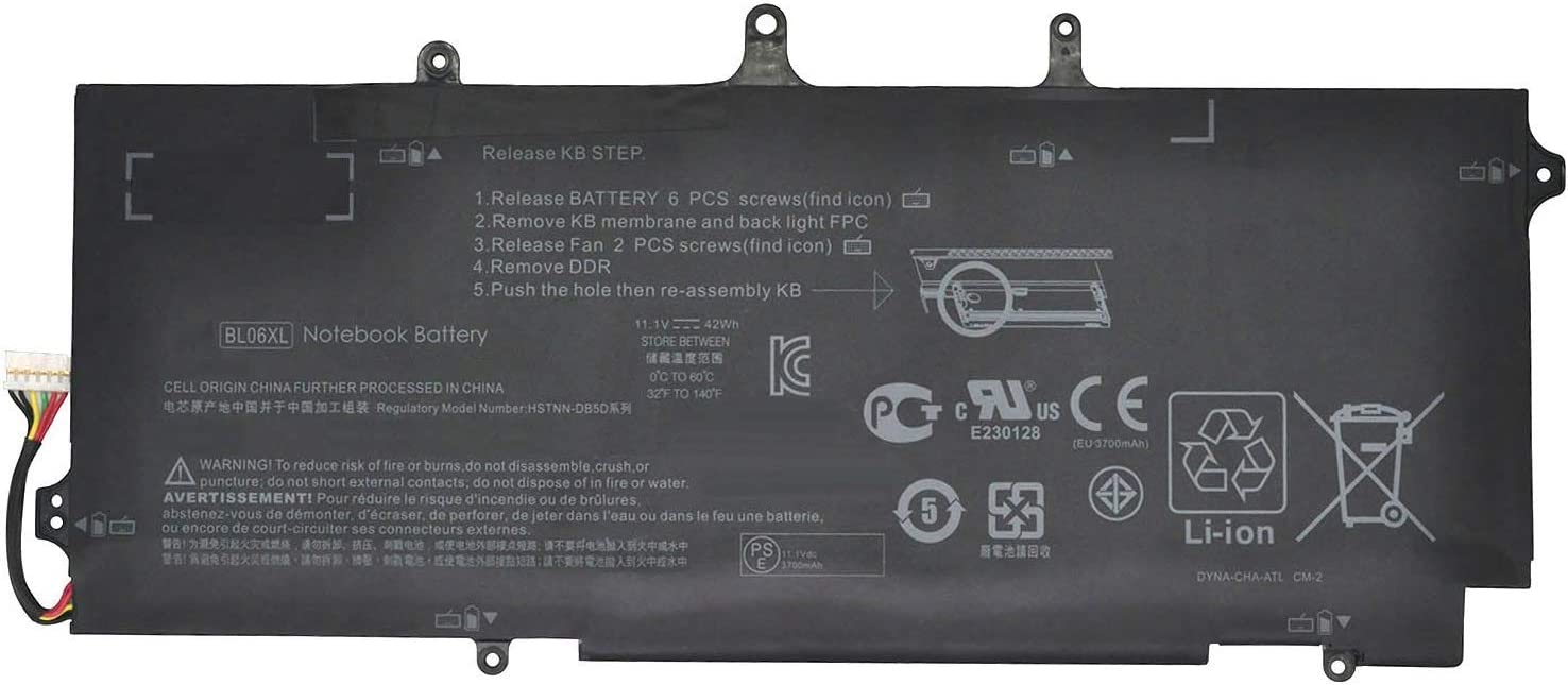 Batterymarket New 11.1V 42Wh Replacement Laptop Battery BL06XL for HP BL06042XL HSTNN-DB5D HSTNN-W02C F450 F450C 722236-171 722236-2C1