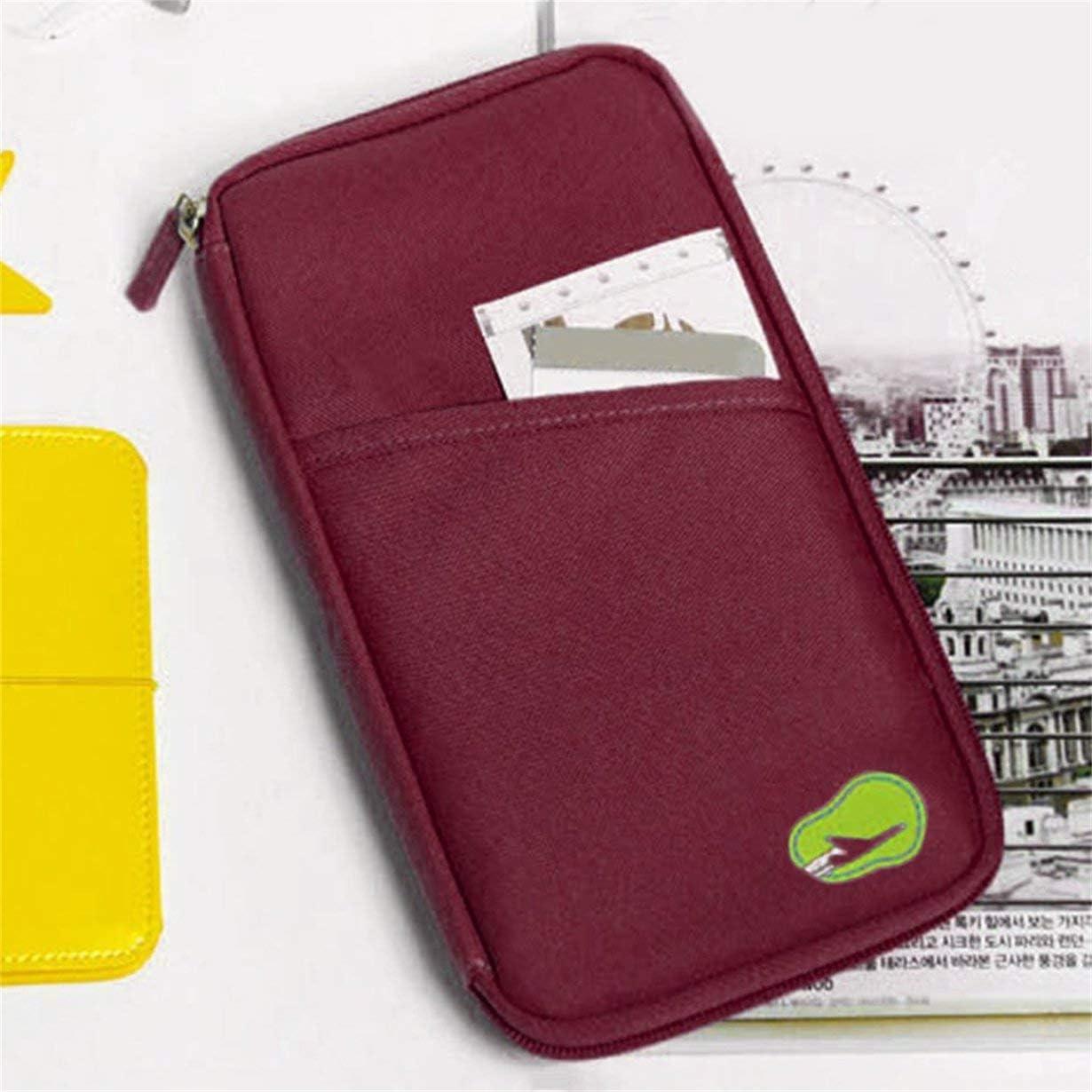 Vert camellia/® Sac de Carte Titulaire de la Carte Voyage Unisexe Couverture du Passeport Multifonction Titulaire de la Carte de cr/édit ID de Stockage Organisateur Sac dargent