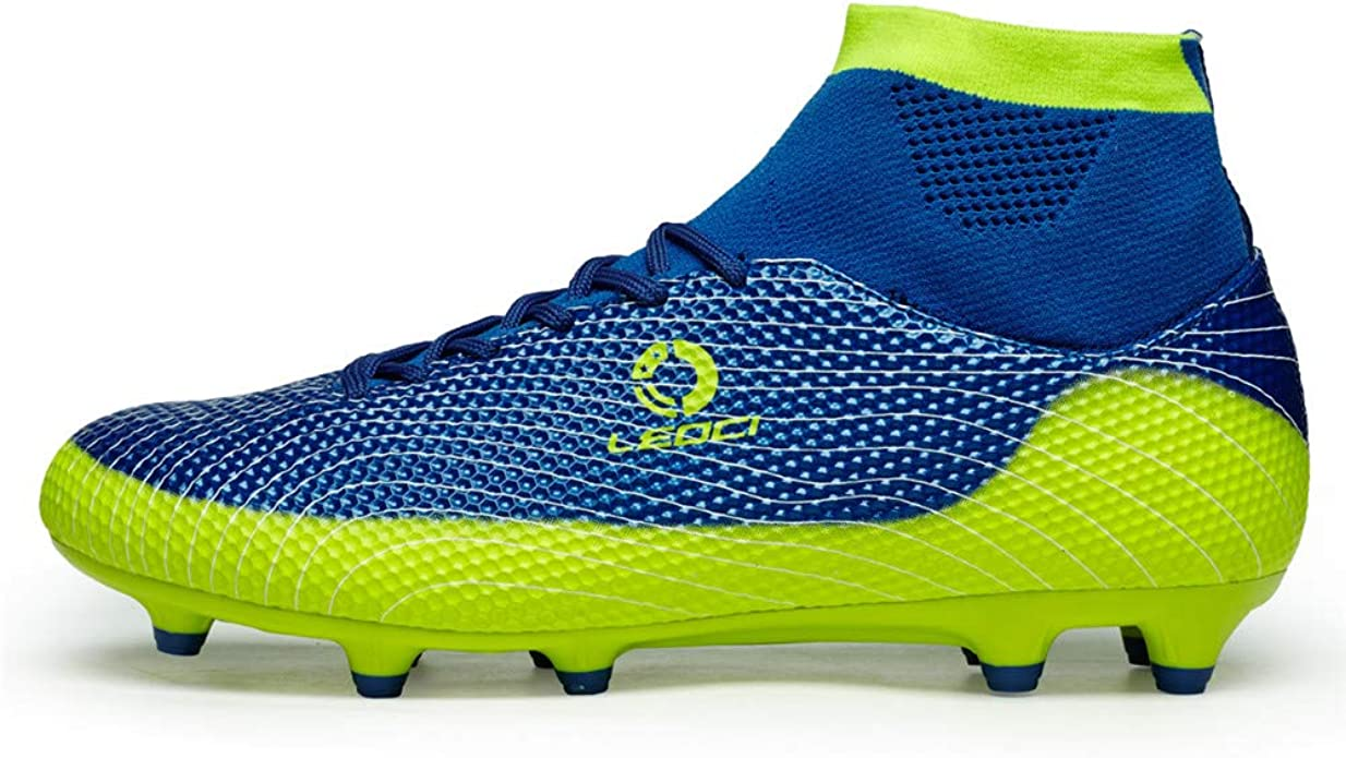 LEOCI Soccer Shoe Boy and Kids and Toddler Outdoor Coomfortable Soccer Cleat