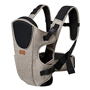 Baby Carrier Backpack, Maydolly Multifunciton Adjustable Infant Carrier with Head Support, 3-in-1 Ways to Carry All Seasons, Perfect for Hiking Shopping Travel for Mom and Dad (Khaki)