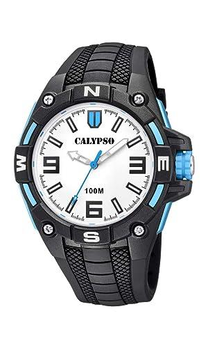 Calypso Watches Reloj Analógico para Hombre de Cuarzo con Correa en Plástico K5761/1: Amazon.es: Relojes