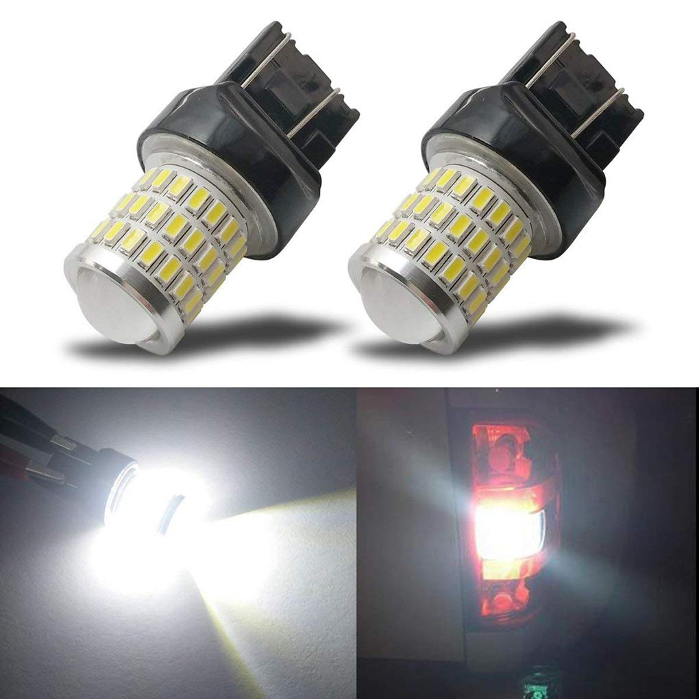 Bobury 2PCS 7743 3030/3014 54SMD White Light High Birghtness Car Parking Lights Running Backup Reverse LED Bulb by Bobury (Image #7)