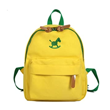 28833b088bd9 Sinohomie HOT Cartoon Bag Animal Horse Kids Cute School Bookbag Toddler  Gift travel Backpack (Yellow