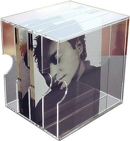 Nai-storage Transparente Registro Soporte de exhibición, de Escritorio de 12 Pulgadas LP Vinilo CD DVD Caja de Almacenamiento de Registros, Archivos de Oficina del hogar de Almacenamiento en Rack: Amazon.es: Hogar