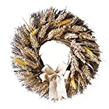 50CM Halloween Wheat Fall Door Wreath Door Wall Ornament With Bow-Knot