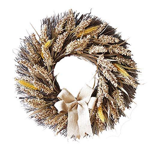 50CM Halloween Wheat Fall Door Wreath Door Wall Ornament With -