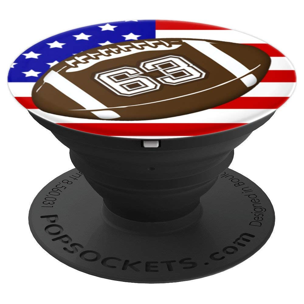 d879e4e8b1c8b Amazon.com: American Football Player 63 Jersey #63 US Flag Sports Gift -  PopSockets Grip and Stand for Phones and Tablets: Cell Phones & Accessories