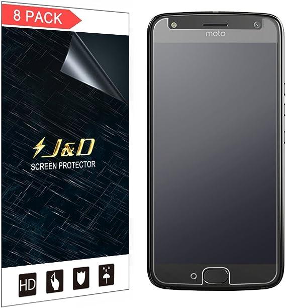J&D Compatible para 8 Paquetes Protector de Pantalla para Moto X4, [Anti reflejante] [Anti-Huella Dactilar] [NO Cobertura Completa] Prima Película Mate Protector de Pantalla para Motorola Moto X4: Amazon.es: Electrónica