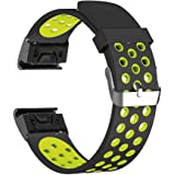 YOOSIDE for Garmin Fenix 5/Forerunner 935 Watch Band,Easy Release Quick Fit 22mm Silicone Soft Watch Strap Band for Garmin Fenix 5/Forerunner935/Approach S60,Fit Wrist 5.9~8.7in