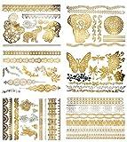 Terra Tattoos Gold Henna Temporary