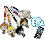Psycho Pass Anime 5 pcs Metal Cell Phone Charm
