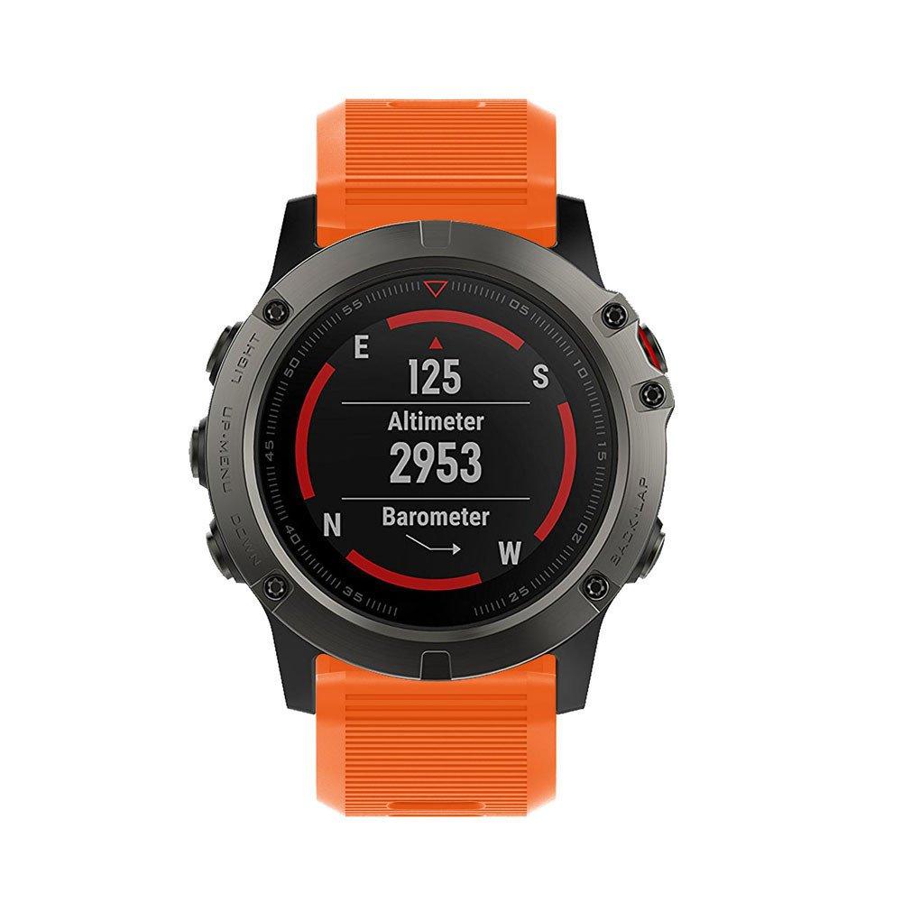 DIPOLA Nuevo Reemplazo de Reloj Pulsera Devortiva Silicagel Soft Quick Release Kit Band Correa para Garmin Fenix 5X: Amazon.es: Deportes y aire libre