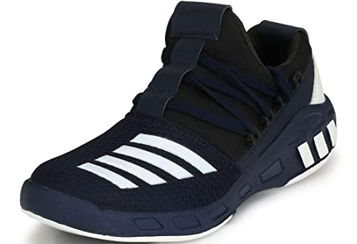 beb856c240baa0 Shoe Fab Men Supersoft Blue Running Sports Shoes Touchwood Mens Shark Sports  Shoes for Running Jogging  Buy Online at Low Prices in India - Amazon.in