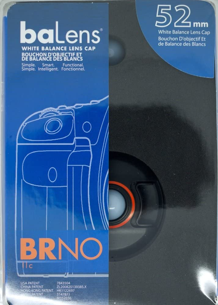 BRNO baLens 52mm White Balance Lens Cap with Neutral and Warm Filters
