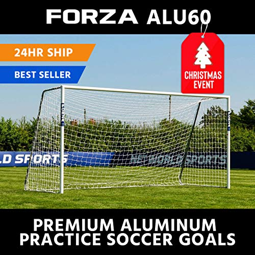 Forza Alu60 Soccer Goal - Club Spec Aluminum Soccer Goal (Choose Your Size 6ft x 4ft -> 24ft x 8ft) Long-Lasting and Weather-Resistant Alu60 Soccer Goals [Net World Sports]