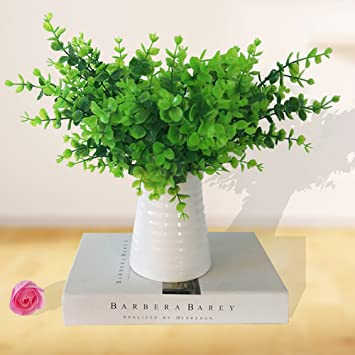 Mihounion Kunstpflanzen 2pcs Deko Pflanzen Farn Kunstliche Pflanze