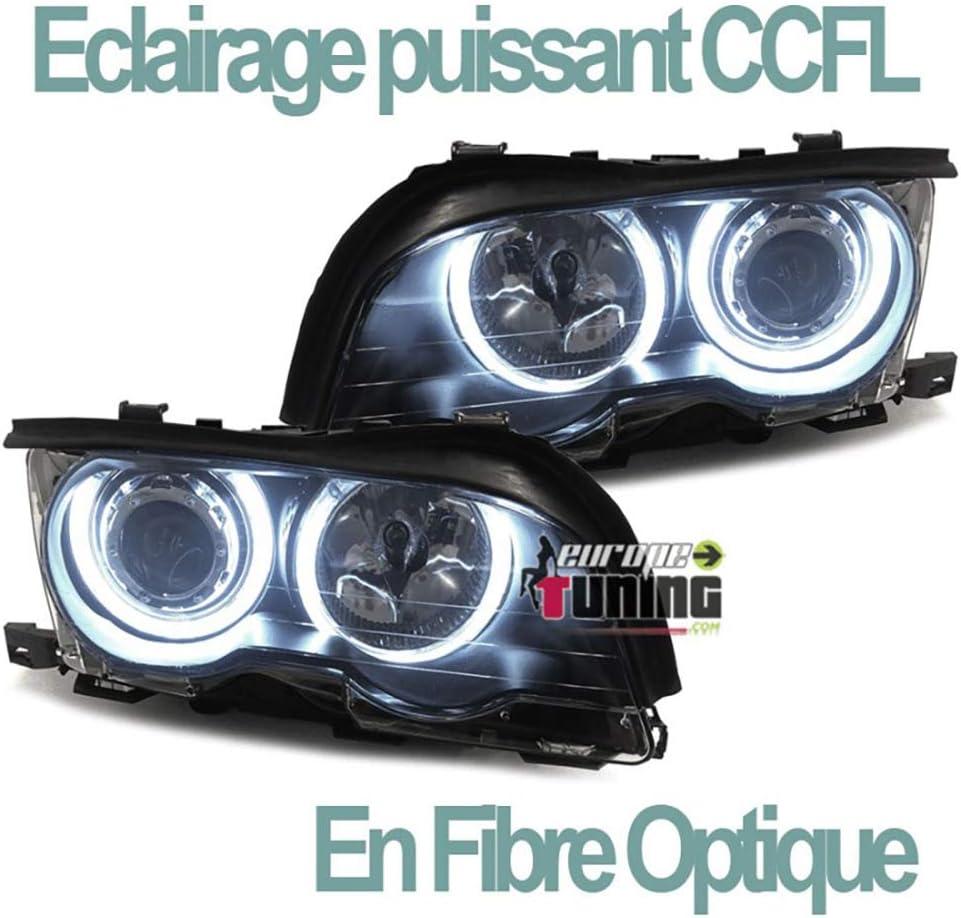 Front Clignotants Gauche pour BMW e46 3er Limo Touring LCI 01-05 Noir Verre Transparent Blink