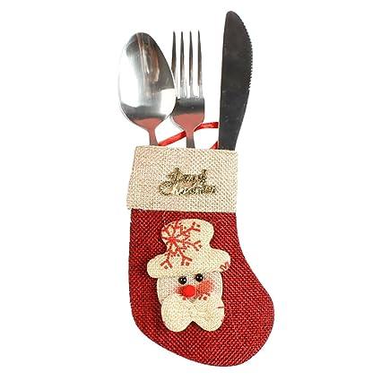 Decoracion Navidad Cubiertos de Vajilla Bolsas de Caramelo ...