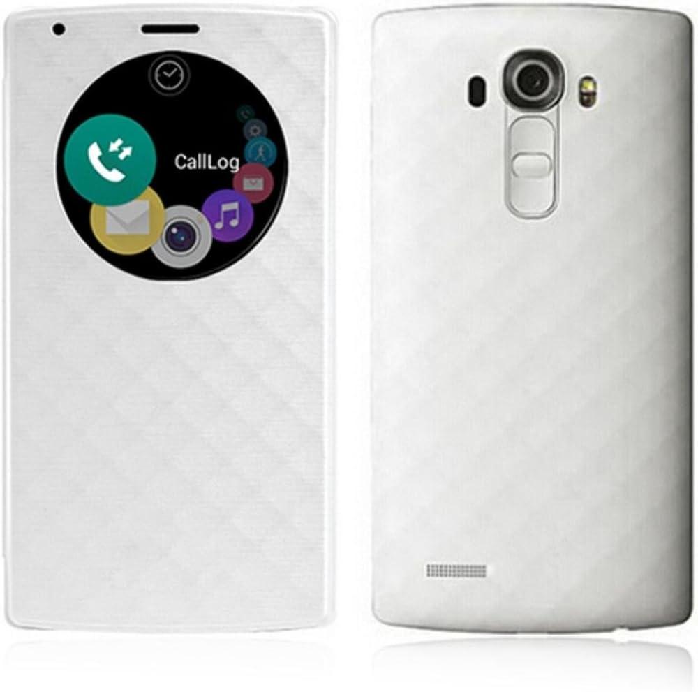LG G4 Funda, Aimson Smartphone LG Reemplazo Círculo Rápido Funda Trasera con carga inalámbrica Qi Con NFC (blanco): Amazon.es: Electrónica