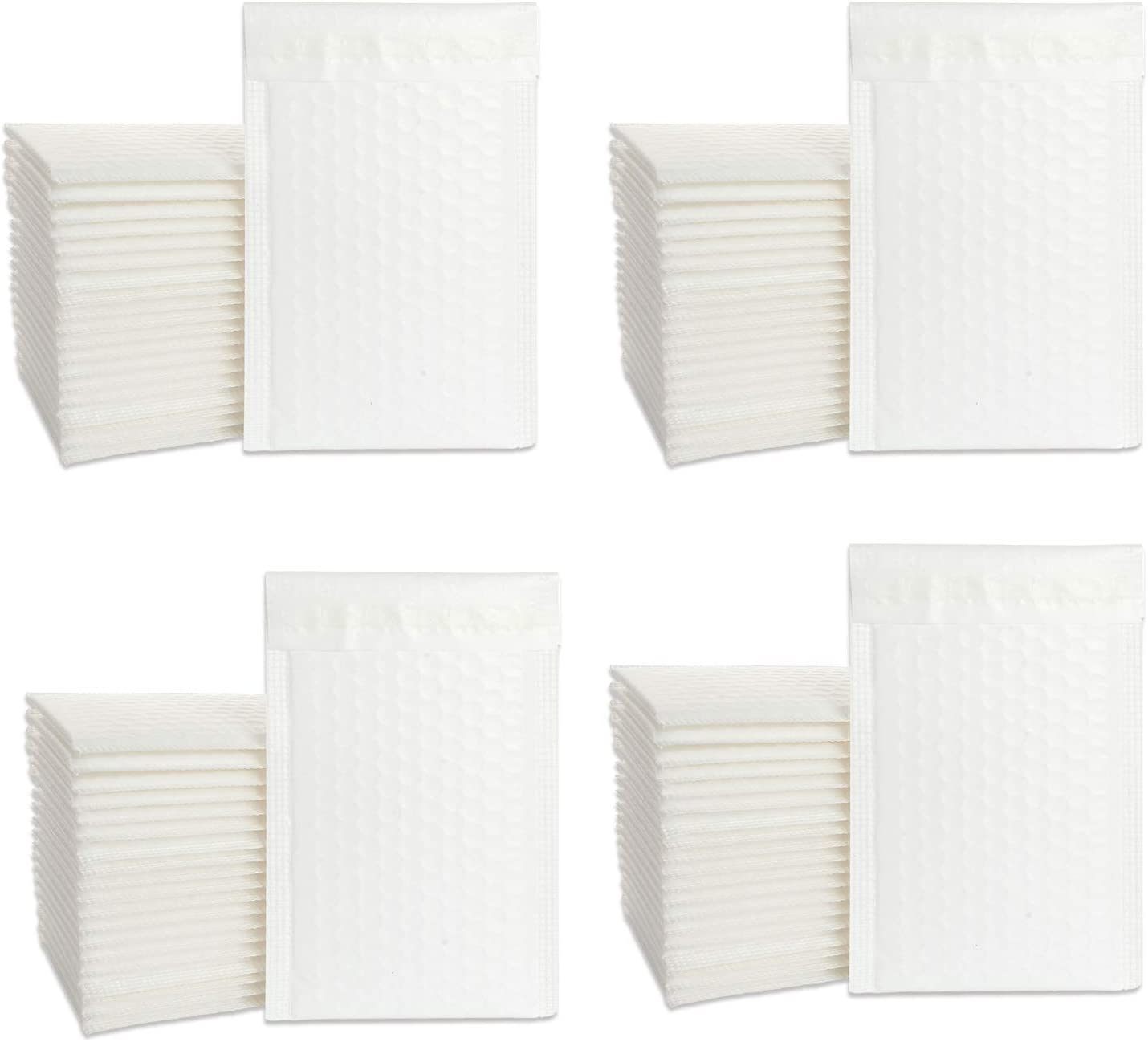 Bubble Mailers 4x7, 80 PCS Bubble Envelopes, Bubble Packaging Envelopes, Padded Envelopes 4x7, Bubble Poly Mailers Perfect for Packing Express Delivery and Protecting Fragile Goods(White)