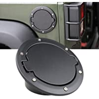 Fuel Filler Door Cover Gas Tank Cap 4-Door 2-Door for 2007-2014 Jeep Wrangler JK Chrome+bule