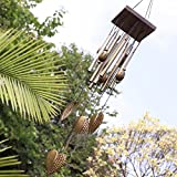 Wind Chimes Heart - 1 Piece 55cm Placed Fortune Blessing Birthday Love Heart 8 Tubes Outdoor Living Yard Garden Decor Wind Chimes