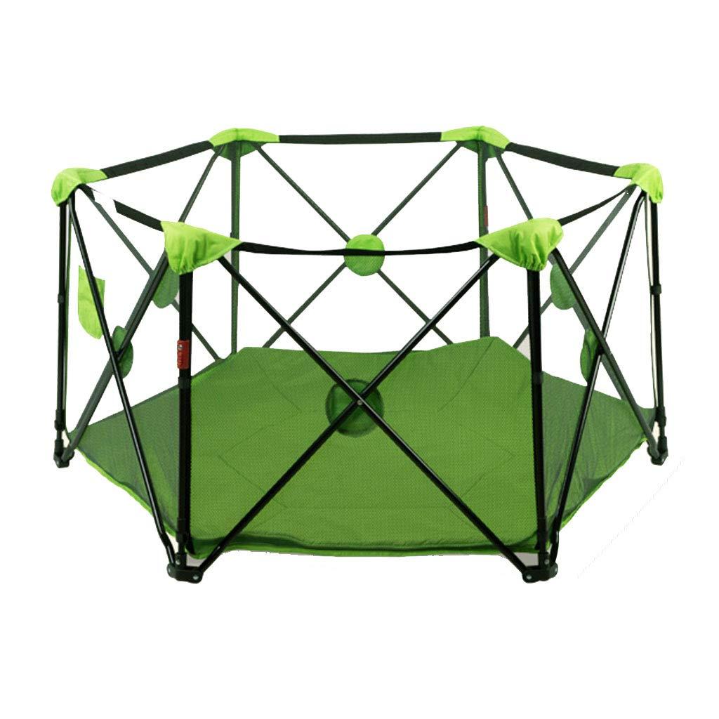 子供の遊びフェンスの幼児の安全フェンス屋内の遊び場の赤ちゃんのクロールマットの幼児 (Color : Green, Size : 70 * 135cm) 70*135cm Green B07H2T2S4F