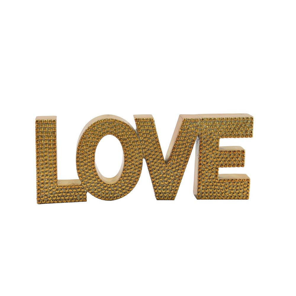Kenmont Imitation diamonds LOVE Letters ornaments Crafts Office Wall Wedding Party Birthday Home Decorations Gift (PEACE) KM-001-1481107A1