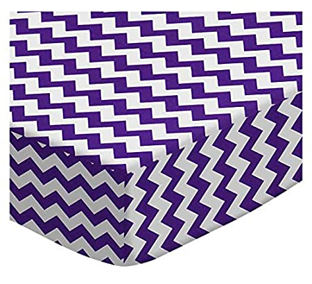 SheetWorld Fitted Cradle Sheet - Hot Pink Chevron Zigzag - Made In USA CR-W109