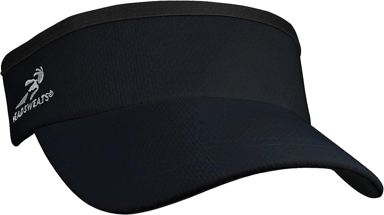 Headsweats Supervisor Sun/Race/Running/Outdoor Sports Visor, Black, One Size: Clothing