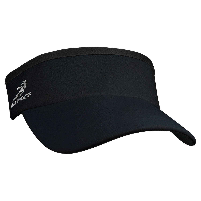 Headsweats Supervisor Sun/Race/Running/Outdoor Sports Visor, Black, One Size