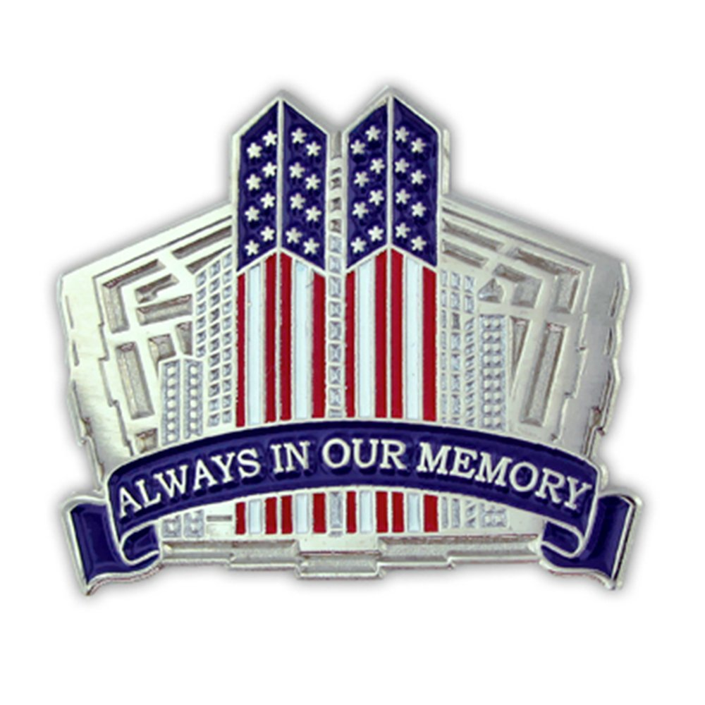 PinMart's 9/11 September 11th Always in our Memory Twin Towers Lapel Pin