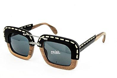 211b6b05fe Amazon.com: Prada Sunglasses PR26RS UA61A1 51mm Nut Canaletto/Black ...