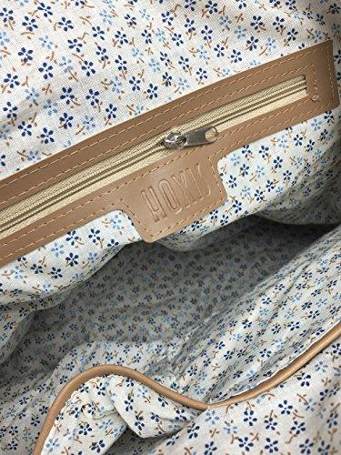 marrón de mimbre sintética trenza con de y piel y de Hoxis funda sintética de playa pajita bolso de Kirsten de tejido mujer Diseño bolso multicolor y hombro axXFndqa