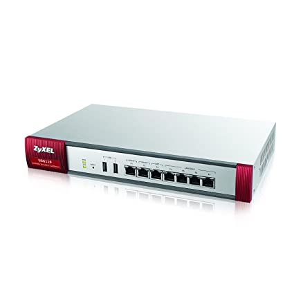 Zyxel Next Generation Unified Security Gateway with WLAN Controller and 4  LAN/DMZ, 2 WAN, 1 OPT Ports [USG110]