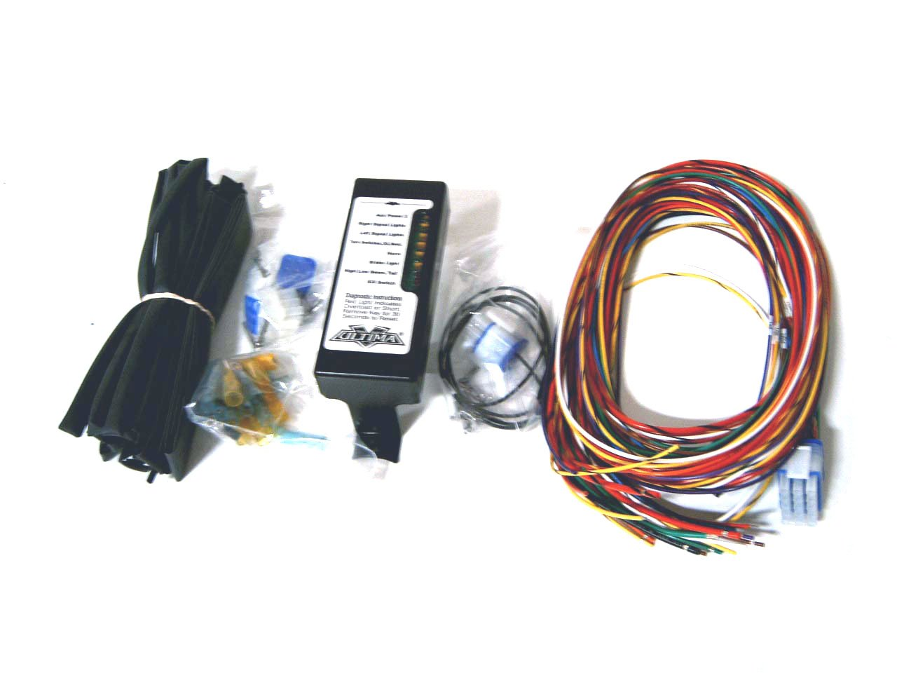 61DV2Bq5%2BHL._SL1280_ amazon com ultima complete wiring harness kit for harley davidson harley wiring harness kits at creativeand.co