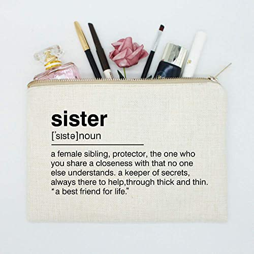 Amazon Sister Birthday Gift Makeup Case Toiletry Bag Definition Quote Cosmetic Best Friend Handmade