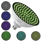 Led Underwater Color Pool Lights,Bonbo 120V 35W RGB Color Changing Swimming Pool Light Bulb E26 Base 300-500w Traditional Bulb Replacement for Most Pentair Hayward Light Fixture