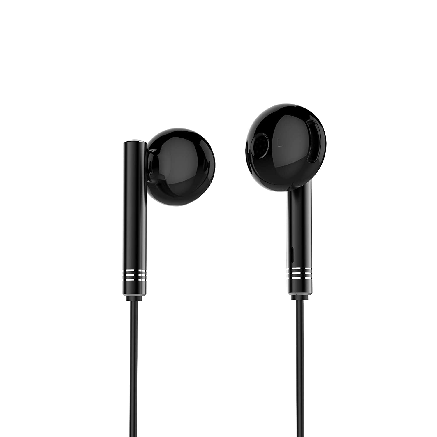 [Apply coupon] SNOKOR by Infinix Bass Drops Earphones (Black) with 14.3mm Large Bass Boost Driver, Trendy Design and Call/Music/Voice Assistant Control