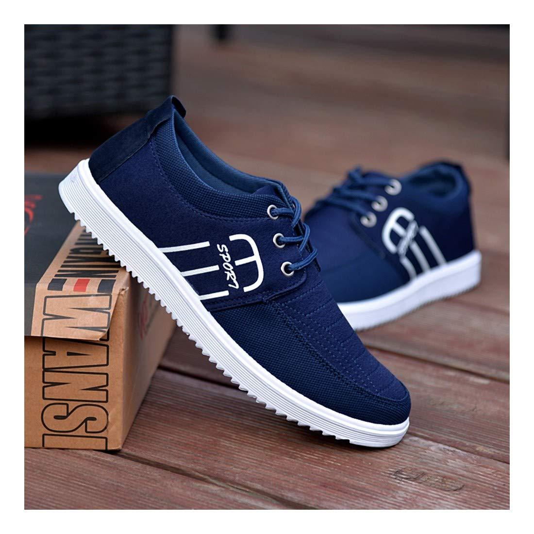 YAYADI Männer Schuhe Sommer'S Fashion Herren Freizeitschuhe Atmungsaktiv Spitze Glatte Leinwand Marke Man Canvas Schuhe Jogging Fitness Schuhe Leichte