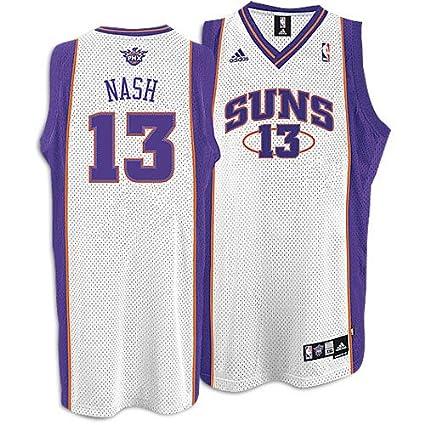 size 40 4fb1a ef330 Amazon.com : Phoenix Suns Steve Nash White Swingman #13 ...