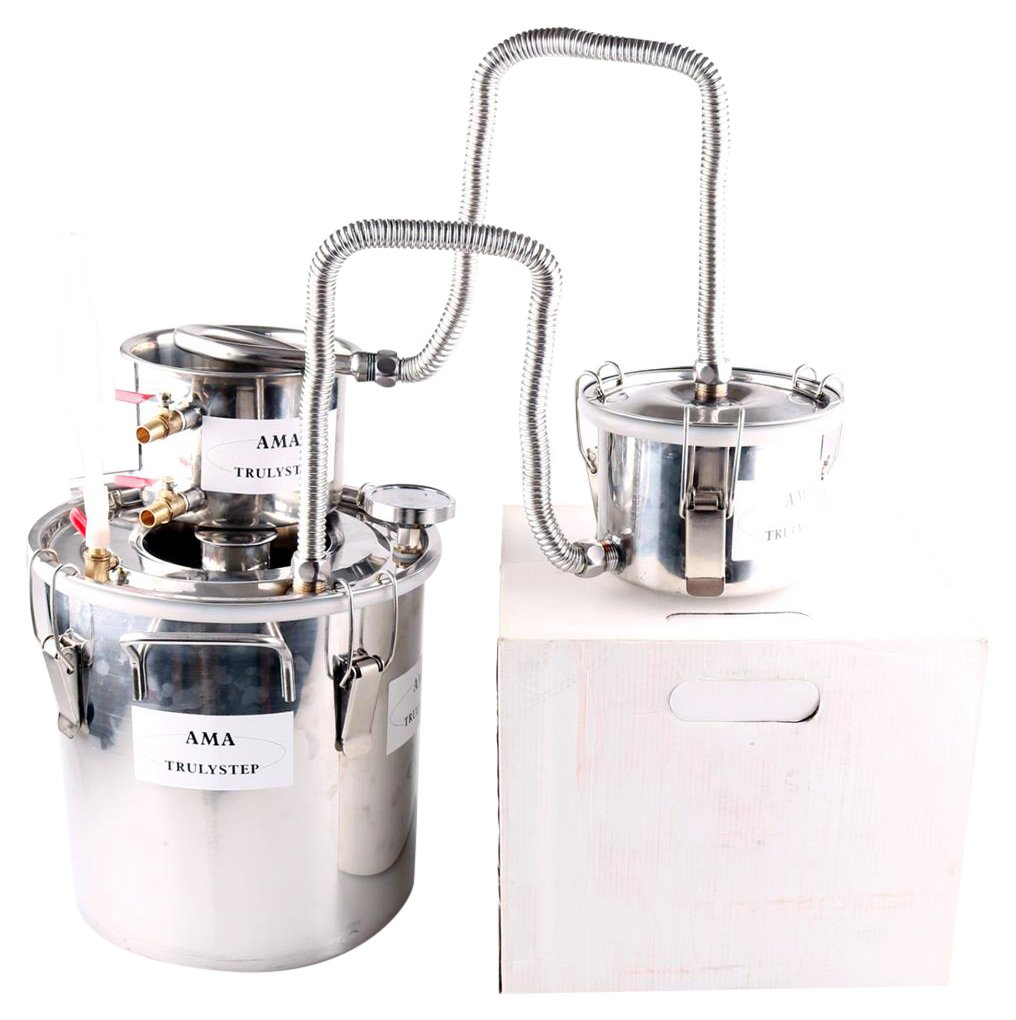 WMN_TRULYSTEP MSTS02_US_WS Stainless Steel Boiler Wine Spirits Essential Oil Water Brewing Kit 12 Litres / 3 Gallon