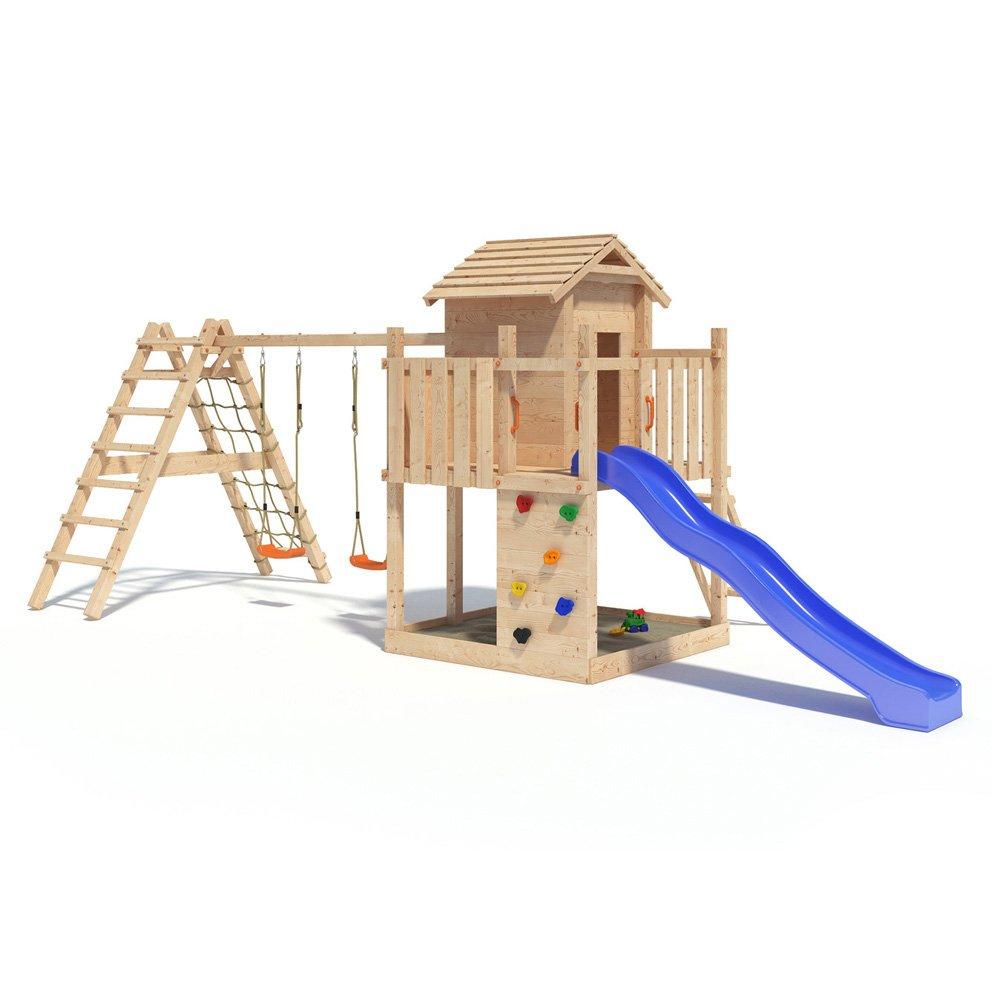 Gigantico Spielturm Kletterturm Baumhaus Rutsche Schaukeln (erweiterter Schaukelanbau)