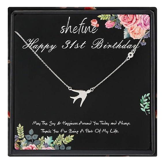 shefine Regalo de cumpleaños 31 para mujer - Collar de plata ...
