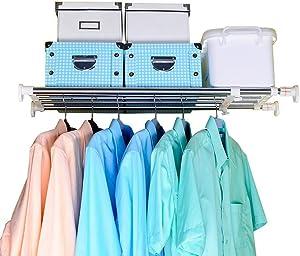 Baoyouni Tension Closet Shelf, Adjustable Storage Rack Separator Wardrobe Cupboard Divider Organizer Rod for Kitchen Bathroom Bedroom, 23.62-39.37 Inch