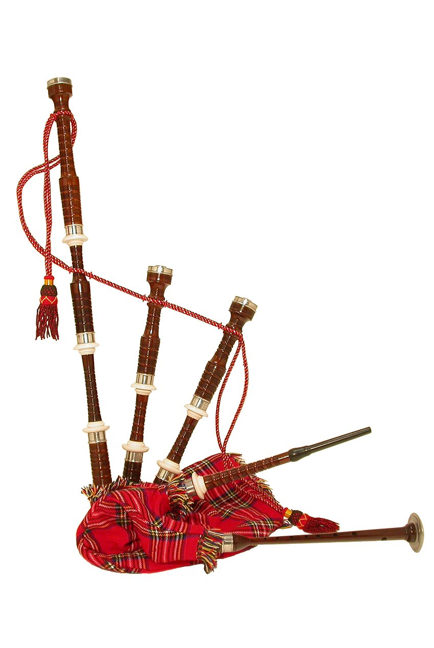 amazon com bagpipe rosewood tartan cover musical instruments