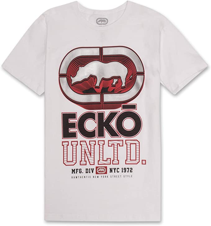 Mens Smokin Jokin Graphic T-Shirt Small Ecko Unltd Black
