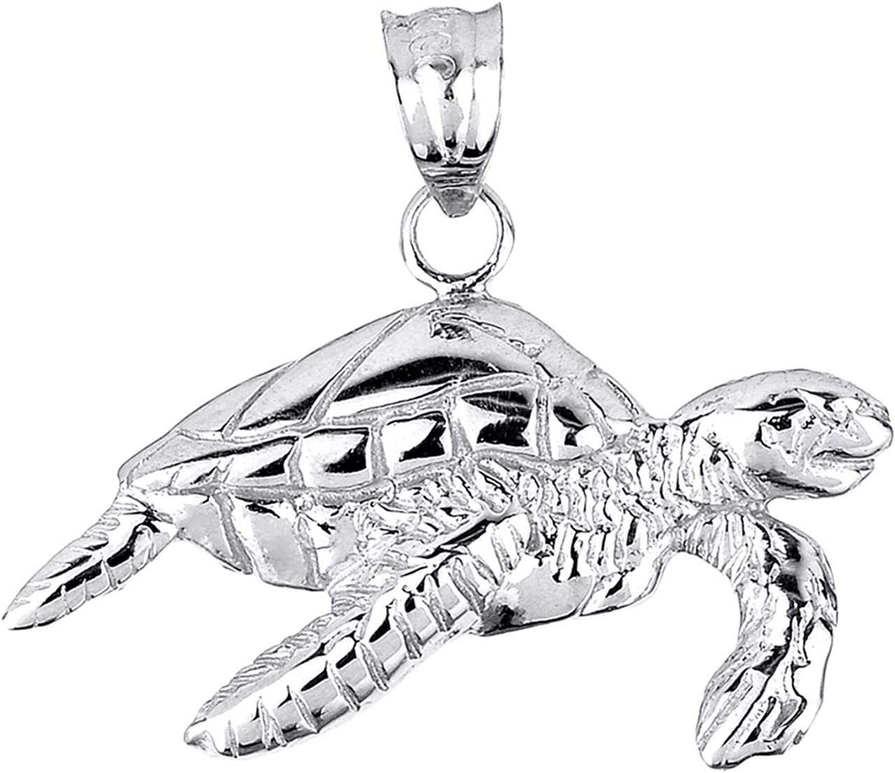 New 925 Sterling Silver Sea Turtle Charm Necklace