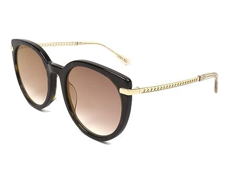 a3384ea5a1e7 Jimmy Choo sunglasses (DENA-F-S 086 JL) Dark Havana - Gold - Brown grey  black Gradient with Mirror effect lenses at Amazon Women s Clothing store
