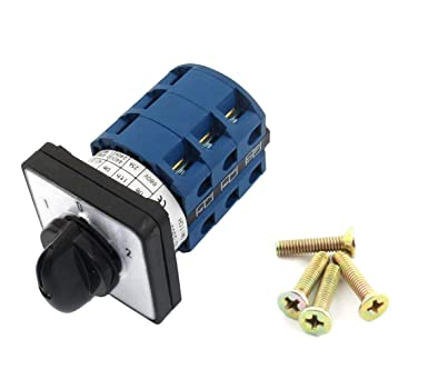 Universal Rotary Changeover Switch LW26-25 690V 25A 3 Position 12 Terminal Universal Rotary cam selector Latch Switch